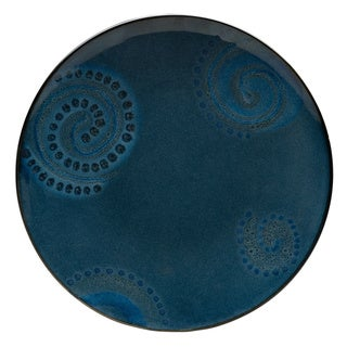 Vanilla Organic Blue Salad Plate (Set of 8)