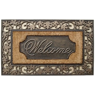 "Rubber and Coir Dirt Trapper Heavy Weight Large Welcome Doormat - 23"" X 38"""