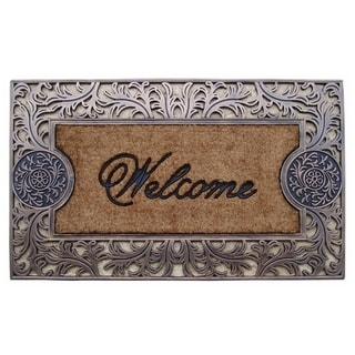 Rubber and Coir Brush Large Doormat