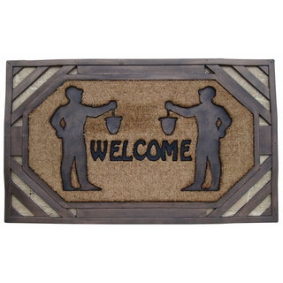 Large Rubber/ Coir Brush Welcome Doormat