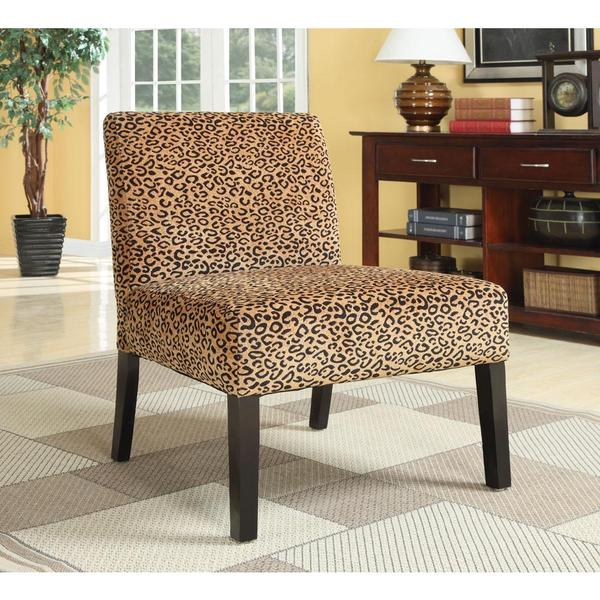 Plush Oversized Leopard Print Accent Chair Overstock Shopping Great Deals