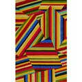 Lively Multicolor Rectangular Rug (9' x 13')