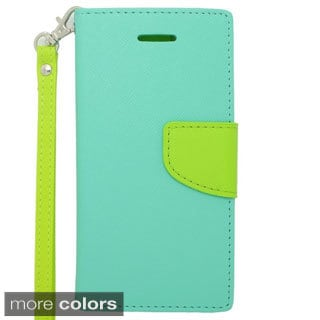 INSTEN with Lanyard Wallet Flap Leather Pouch Case for Apple iPhone 6 4.7-inch