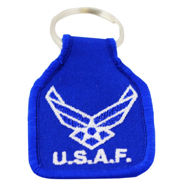 US Air Force New Logo Embroidered Keychain