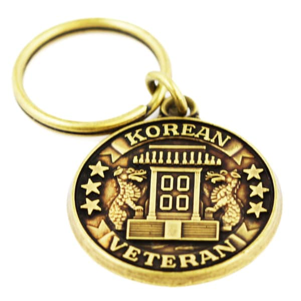 Commemorative Korean War Veteran Military Keychain