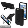 INSTEN Kickstand Symbiosis Hybrid Silicone PC Case For Apple iPhone 6 4.7-inch