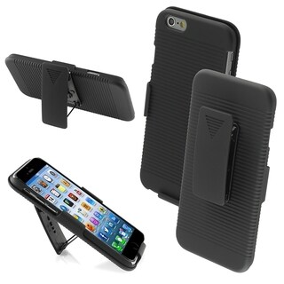 INSTEN Rubberized Hybrid Holster Combo Cover Case for Apple iPhone 6 4.7-inch