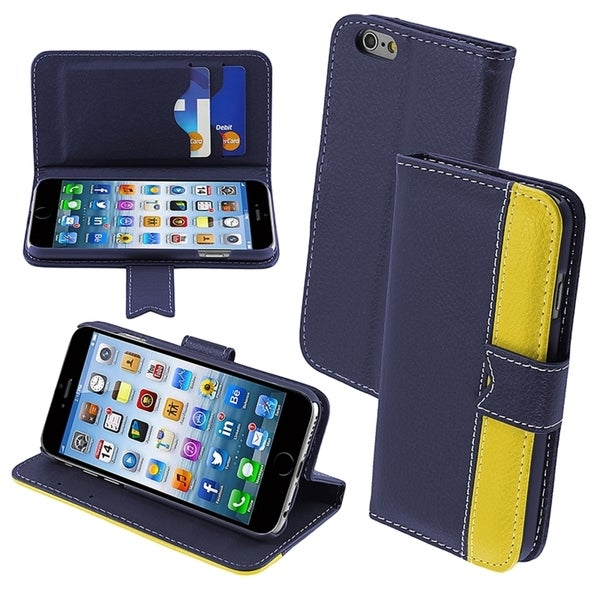 INSTEN Leather Folio Flap Card Wallet Stand Case For Apple iPhone 6 4.7-inch