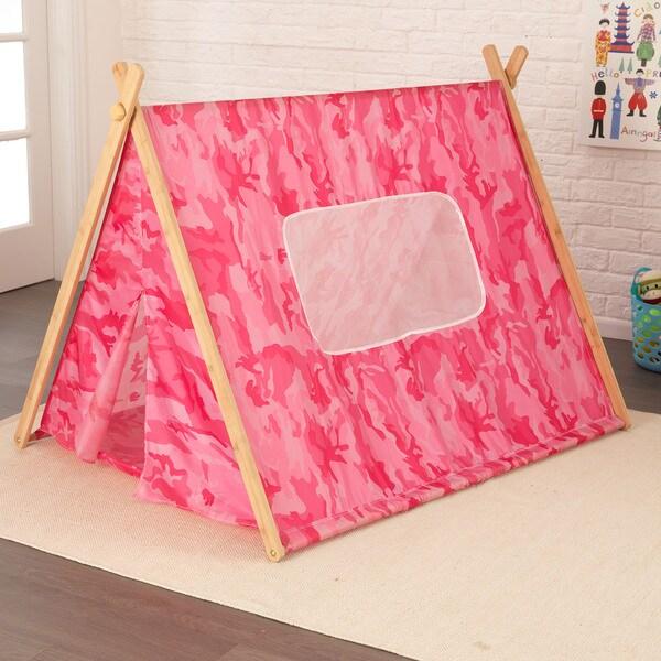 KidKraft A-Frame Pink Camo Tent