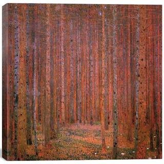 Gustav Klimt 'Fir Forest I' Canvas Print Wall Art
