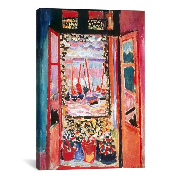 Henri Matisse 'Open Window at Collioure (1905)' Canvas Print Wall Art