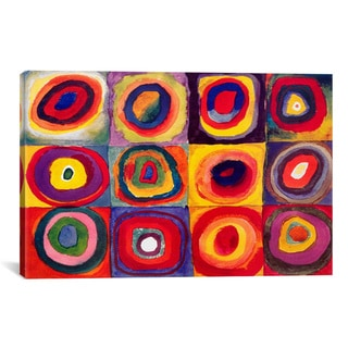 Wassily Kandinsky 'Squares with Concentric Circles' Canvas Print Wall Art