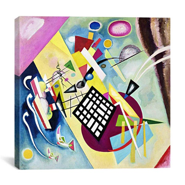 Wassily Kandinsky Painting with White Border Watercolor Oil on