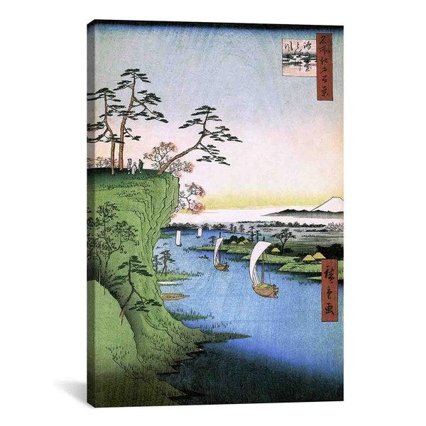 Utagawa Hiroshige l 'One Hundred Famous Views of Edo' Canvas Print Wall Art