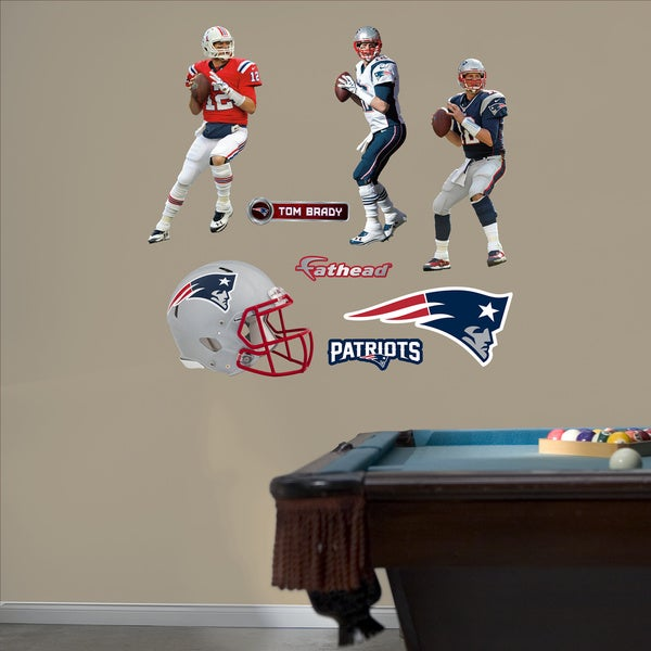 Fathead Tom Brady Hero Pack Wall Decals