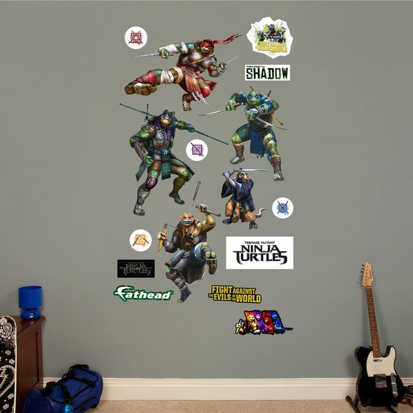 Fathead Teenage Mutant Ninja Turtles Movie Collection Wall Decals