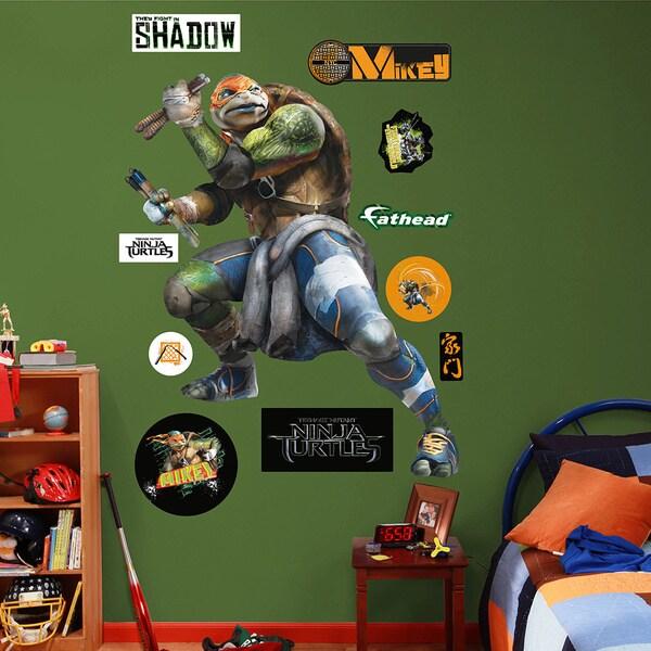 Fathead Teenage Mutant Ninja Turtles Movie Michaelangelo Wall Decals