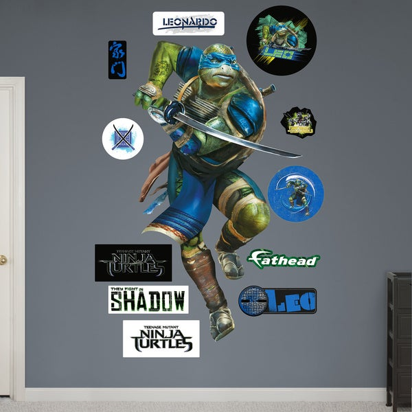 Fathead Teenage Mutant Ninja Turtles Movie Leonardo Wall Decals