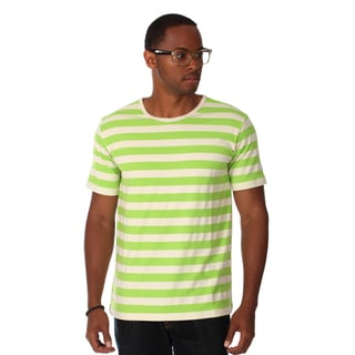 Zutoq Men's Green Striped Crew Neck T-Shirt