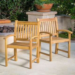 Christopher Knight Home Riviera Outdoor Wood Dining Chair (Set of 2)