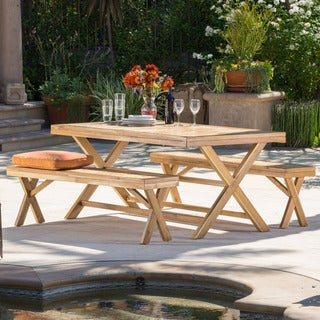 Christopher Knight Home Astin 3-piece Outdoor Dining Set