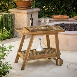 Christopher Knight Home Sonora Outdoor Wood Bar Cart