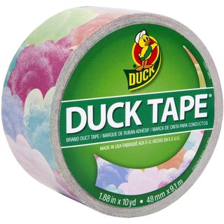 """Patterned Duck Tape 1.88""""X10yd-Cotton Candy"""
