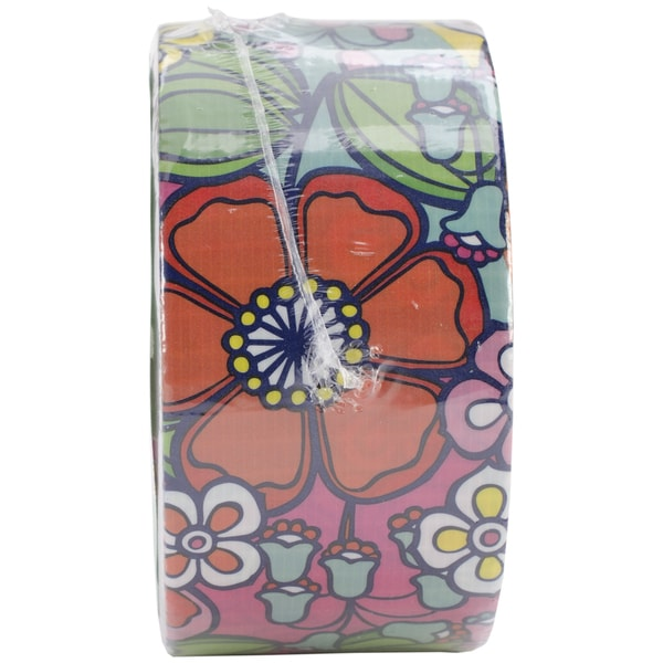"Patterned Duck Tape 1.88""X10yd-Flower Wallpaper"