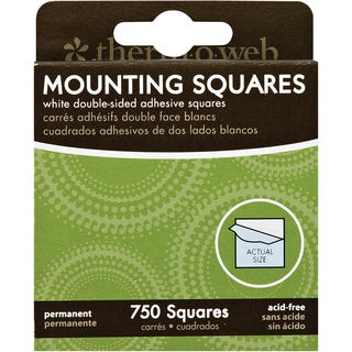 "Mounting Squares 750/Pkg-White .5"""