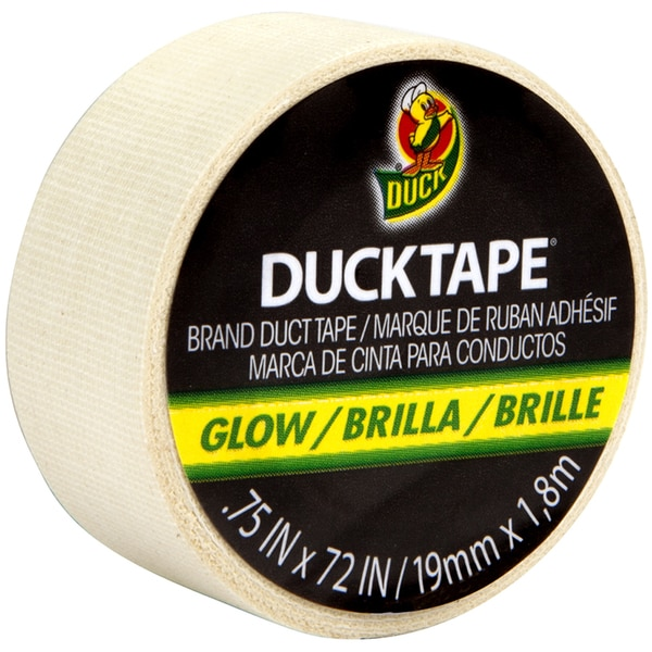 "Mini Duck Tape .75""X6yd-Glow In The Dark"