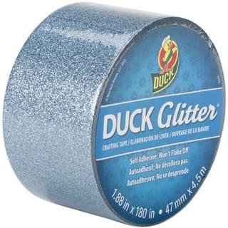 "Glitter Duck Tape 1.88""X180""-Aqua Blue Sparkle"