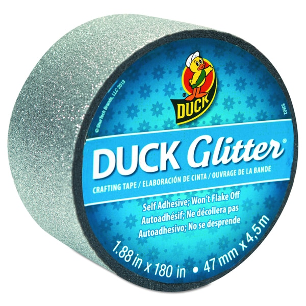 "Glitter Duck Tape 1.88""X180""-Silver Sparkle"
