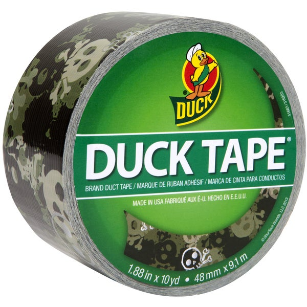 "Patterned Duck Tape 1.88""X10yd-Camo Skulls"