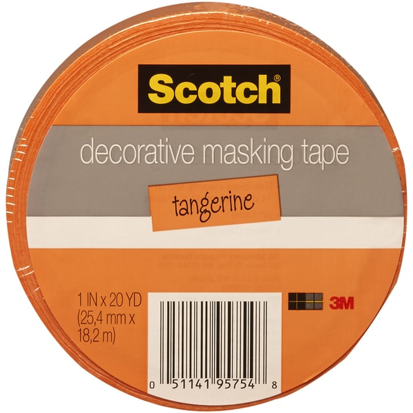 "Scotch Decorative Masking Tape 1""X20yd-Orange"
