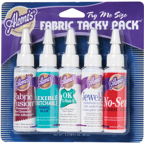 Aleene's Fabric Glue Tack Pack 5/Pkg