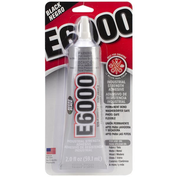 E6000 Multi-Purpose Adhesive-Black 2oz