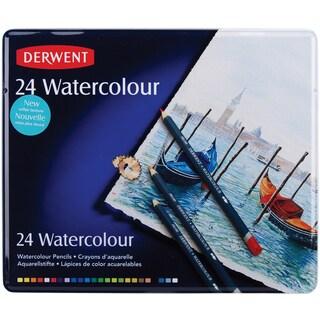 Derwent Watercolor Pencil Tin 24/Pkg