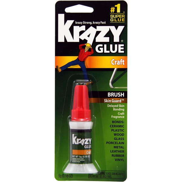 Elmer's Krazy Glue Skin Guard Brush-On-.18 Ounce