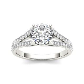 De Couer 14k White Gold 1 1/4ct TDW Diamond Engagement Ring (H-I, I2)