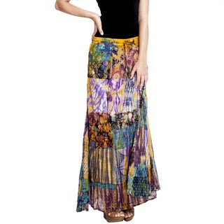 Women's Color Splash Long Maxi Skirt (Nepal)