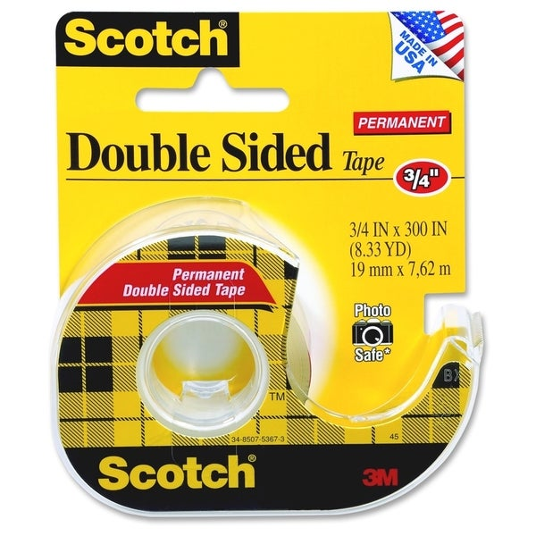 scotch permanent double sided tape 75 x300 16649271 shopping top rated 3m. Black Bedroom Furniture Sets. Home Design Ideas