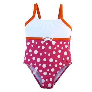 Dippin Dots Kid's Pink Polka-dot One-piece Swimsuit