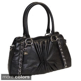 Claudia Leather Satchel with Coordinating Scarf