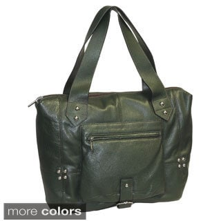 Buxton Buckled Detail Leather Tote