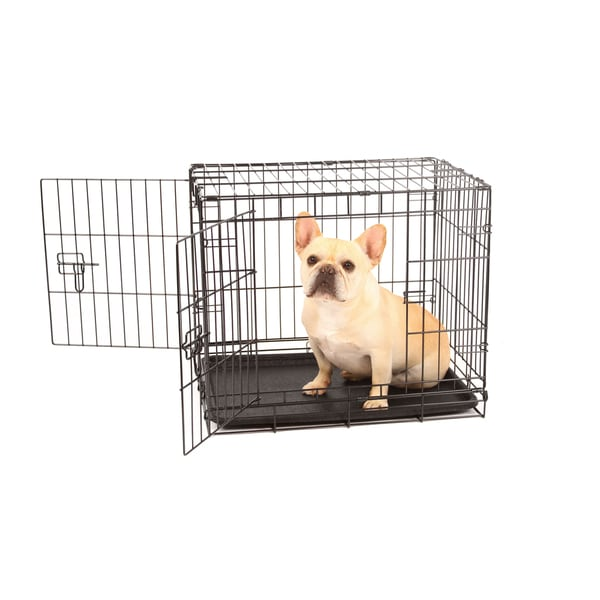 Carlson Double Door Compact Metal Dog Crate