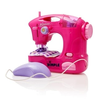Dimple Child Battery Operated 7-inch Toy Sewing Machine