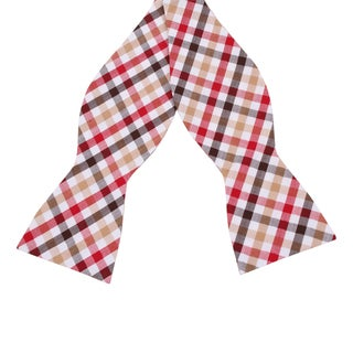 Skinny Tie Madness Men's 'Be The Change' Plaid Bowtie