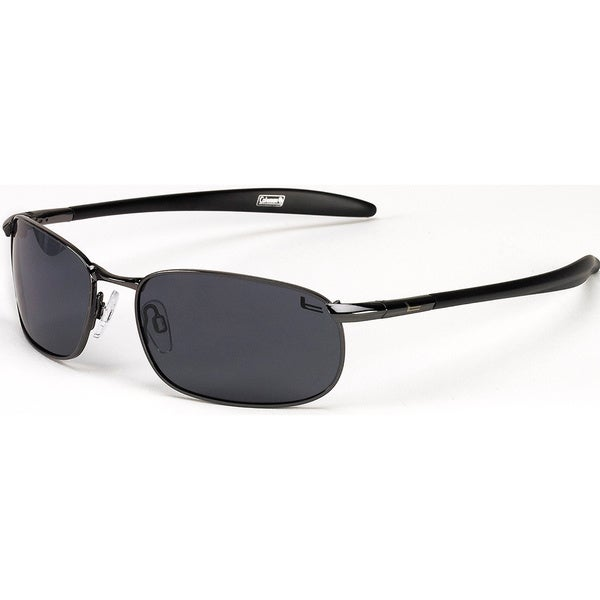 Coleman Unisex 'Roadster' Black Rectangle Sport Sunglasses