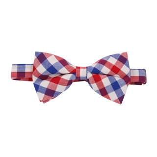 Skinny Tie Madness Men's 'Learn From Yestertday' Pretied Plaid Bowtie