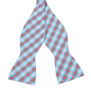 Skinny Tie Madness Men's 'Happiness is Choice' Plaid Bowtie